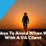 3 Mistakes To Avoid When Working With A VA Client